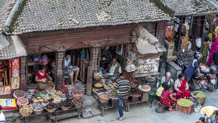 Asan market in Kathmandu