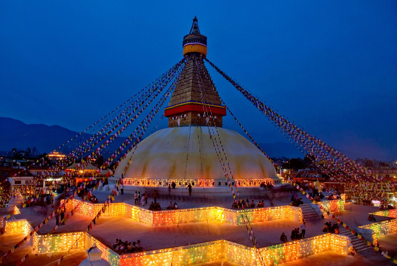 Architecture of Boudhanath stupa in kathmandu