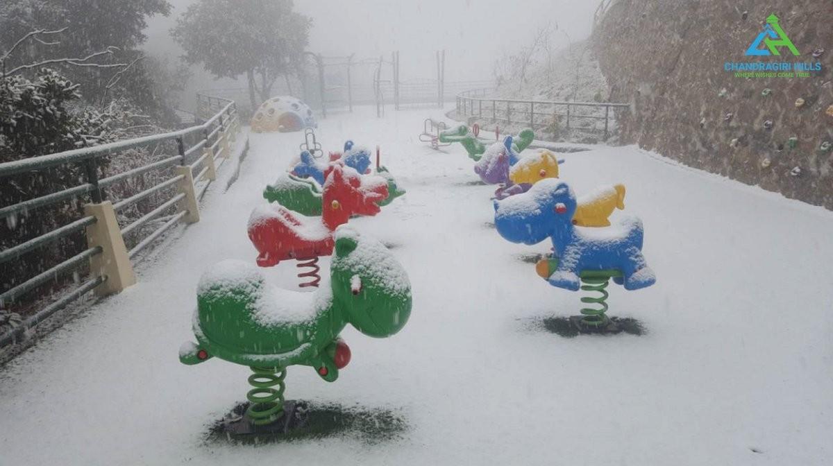Chandragiri Snowfall