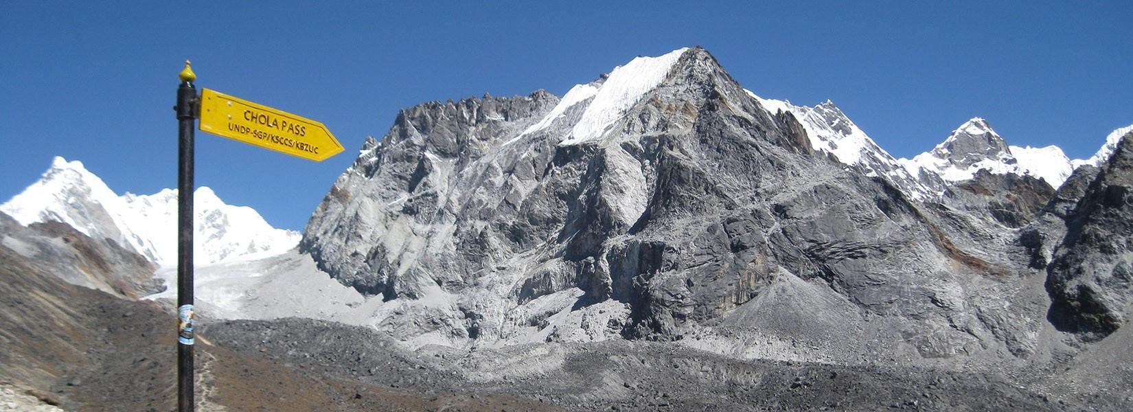 Cho La pass in everest region