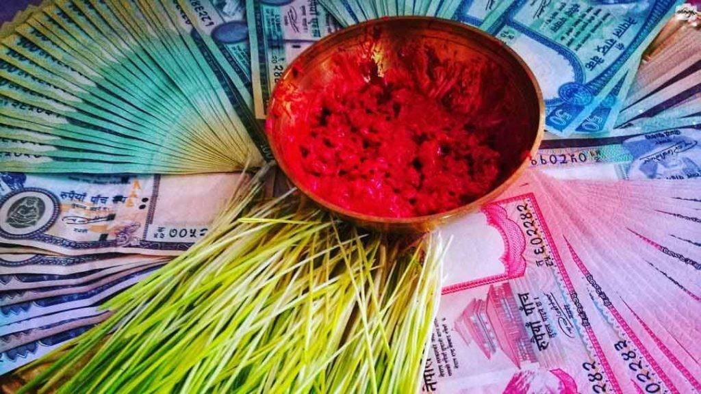 Dashain festival Tika And Jamara