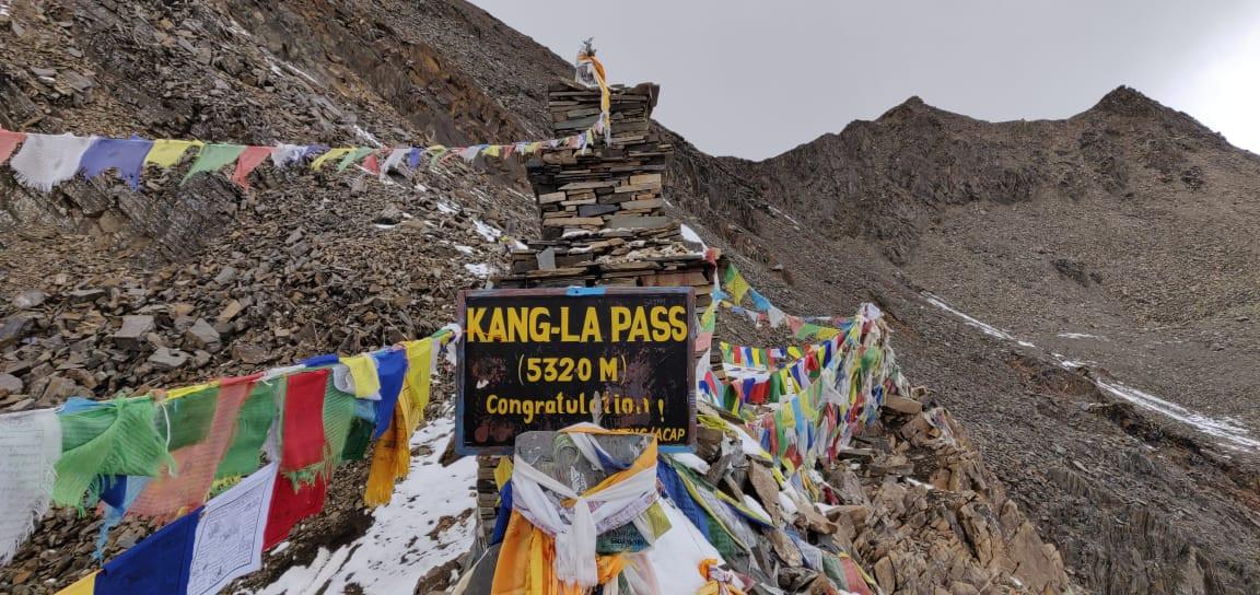 Kang la pass in nepal