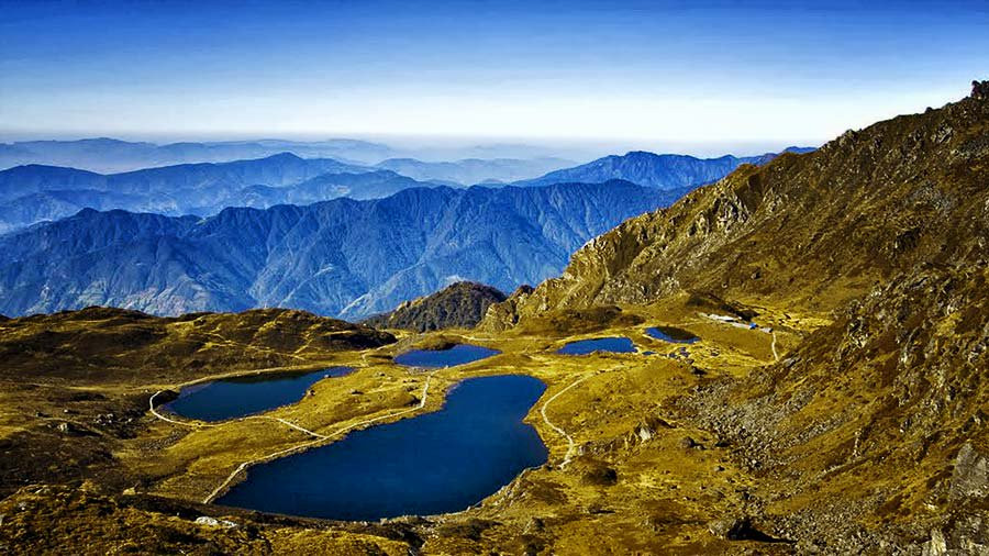Panch Pokhari Lakes in Nepal