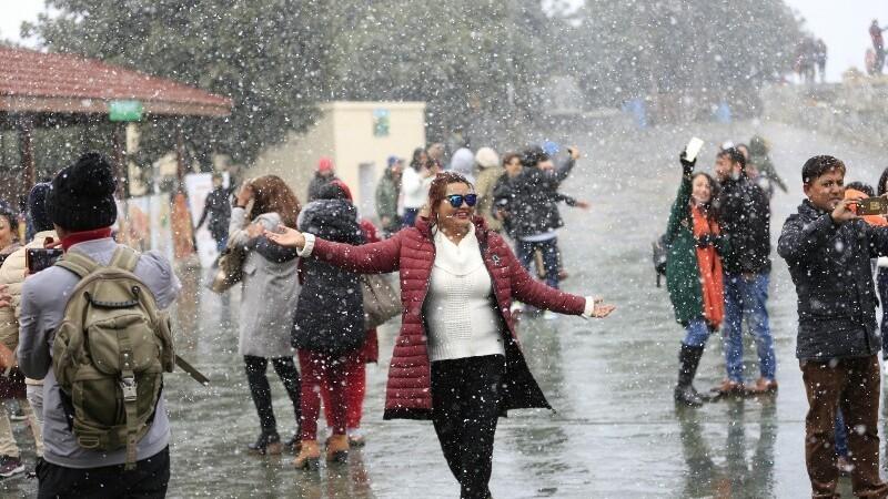Snowfall nearby kathmandu