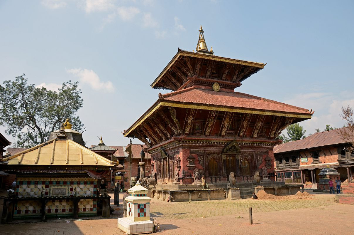 Architecture of changunarayan temple in Nepal
