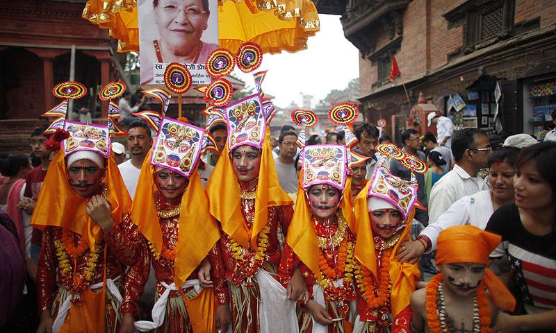 Gaijatra festival in nepal