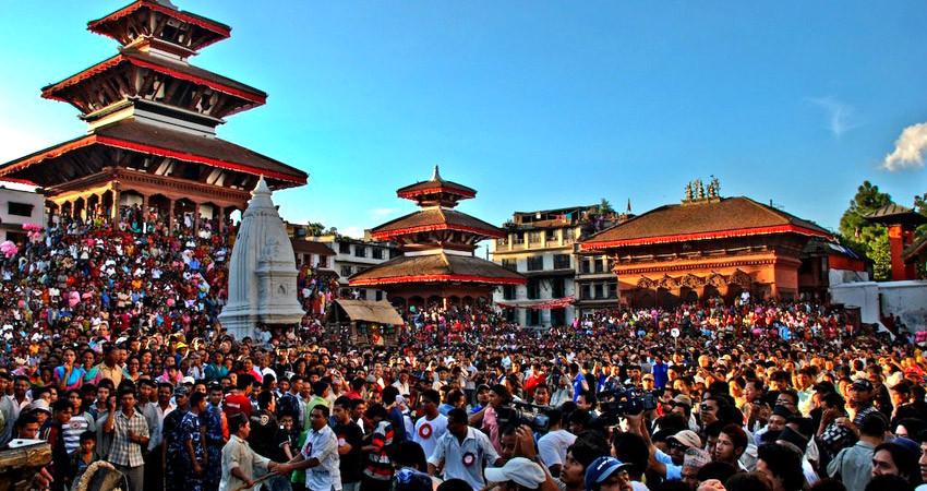 Indrajatra in Nepal