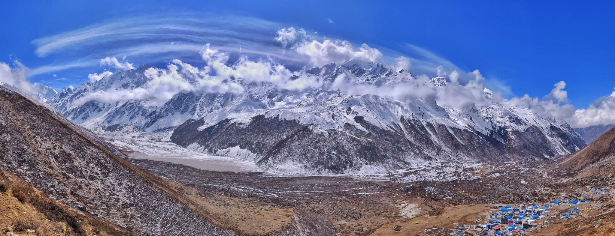 mountain view from Langtang