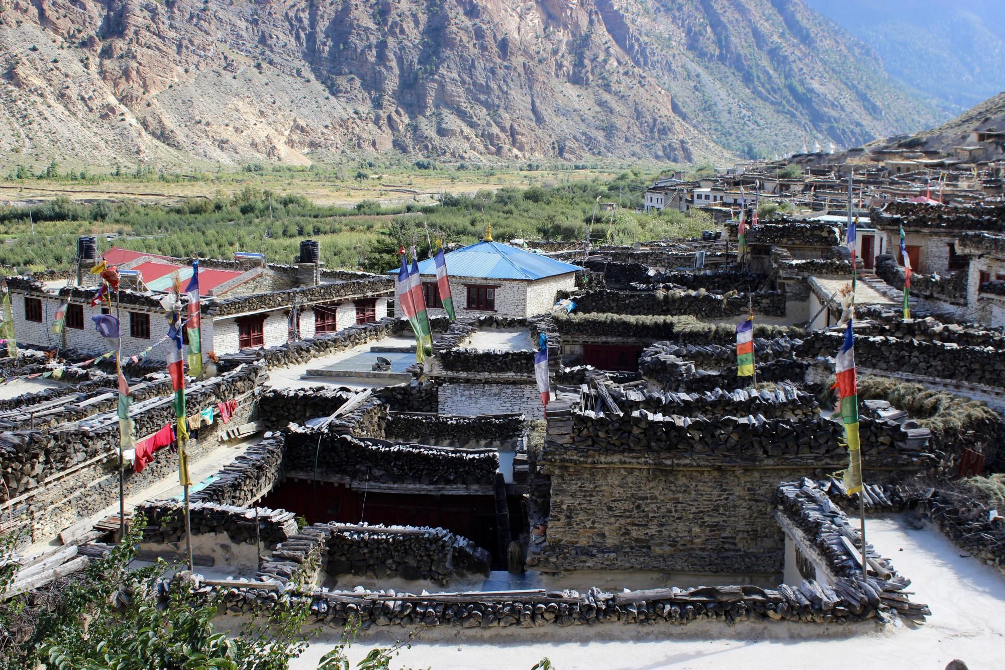 Marpha village mustang nepal
