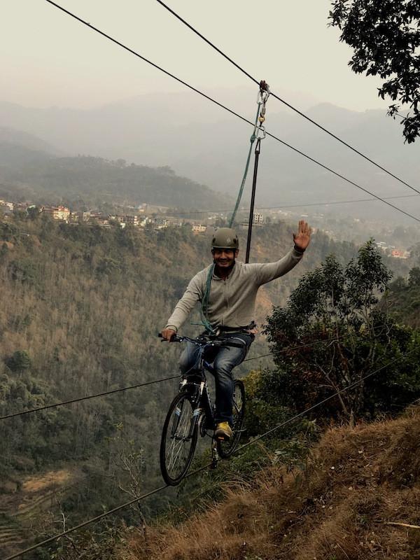 Sky cycling in Kushma